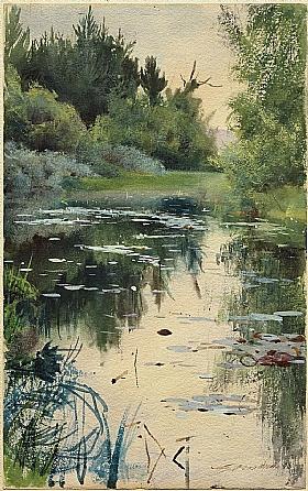 Anders Zorn, Etude paysage de Mora - GRANDS PEINTRES / Zorn
