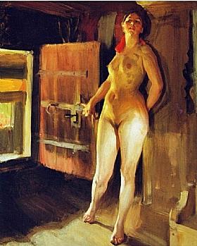 Anders Zorn, Fille dans le loft - GRANDS PEINTRES / Zorn