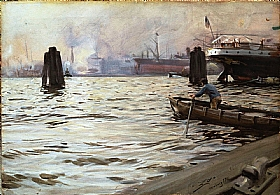 Anders Zorn, le port à Hambourg - GRANDS PEINTRES / Zorn