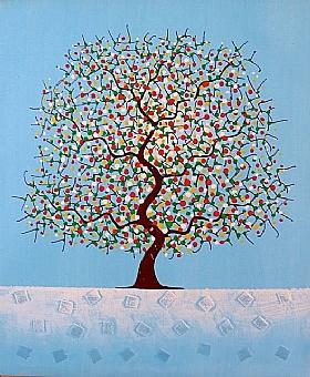 L'arbre des rêves, Harmonie bleue - PEINTURES / Tableaux bien-être
