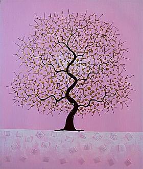L'arbre des rêves, Harmonie Rose - PEINTURES / Tableaux bien-être