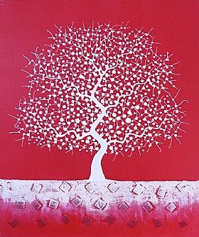 L'arbre des rêves, Harmonie rouge et blanche - PEINTURES / Tableaux bien-être