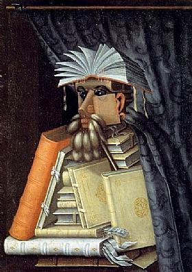 Giuseppe Arcimboldo, Le bibliothécaire - GRANDS PEINTRES / Arcimboldo