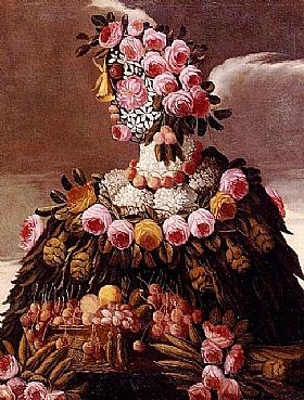 Giuseppe Arcimboldo, Printemps rose - GRANDS PEINTRES / Arcimboldo