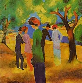 August Macke, Femme à la veste verte - GRANDS PEINTRES / Macke