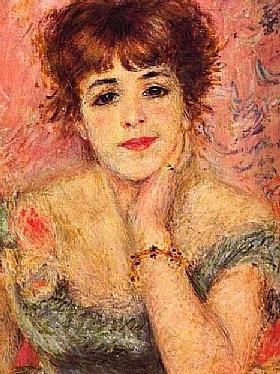 Auguste Renoir, Portrait de Jeanne Samary - GRANDS PEINTRES / Renoir