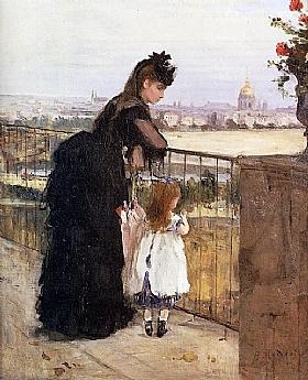 Berthe Morisot, Femme et enfant au balcon - GRANDS PEINTRES / Morisot