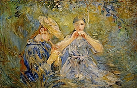 Berthe Morisot, Flageolet joueuses de flute - GRANDS PEINTRES / Morisot