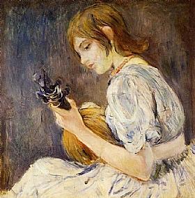 Berthe Morisot, La mandoline - GRANDS PEINTRES / Morisot