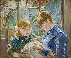 Berthe Morisot, Leçon de couture - GRANDS PEINTRES / Morisot