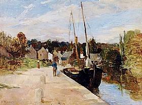 Berthe Morisot, Port de Ros bras à Riec-sur-Belon - GRANDS PEINTRES / Morisot