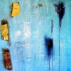 Expériences de vie, Bleu Or - GRANDS FORMATS / 80cm x 80cm