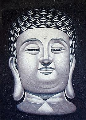 Bouddhisme, Bouddha paisible - PEINTURES / Tableaux Figuratifs