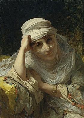 Arthur Frederick Bridgman, Beauté de Constantinople - GRANDS PEINTRES / Bridgman