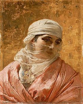 Arthur Frederick Bridgman, Femme Circassienne du Nord Caucase - GRANDS PEINTRES / Bridgman