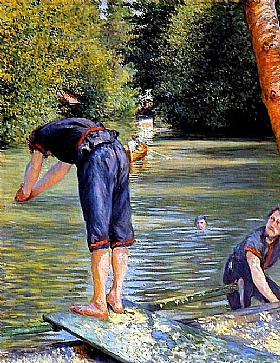 Gustave Caillebotte, Baigneurs - GRANDS PEINTRES / Caillebotte