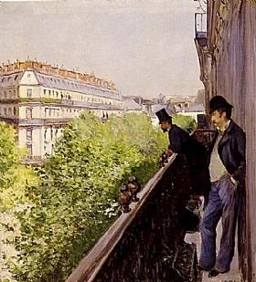 Gustave Caillebotte, Le balcon - GRANDS PEINTRES / Caillebotte