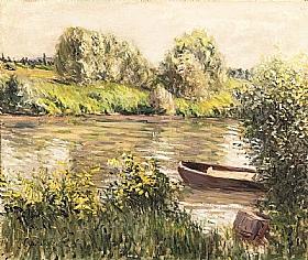Gustave Caillebotte, Barques près de la rive - GRANDS PEINTRES / Caillebotte