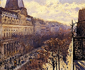Gustave Caillebotte, Boulevard des Italiens - GRANDS PEINTRES / Caillebotte