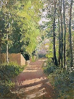 Gustave Caillebotte, Chemin dans un bois Normandie - GRANDS PEINTRES / Caillebotte
