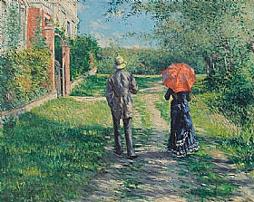 Gustave Caillebotte, Chemin montant en Normandie - GRANDS PEINTRES / Caillebotte