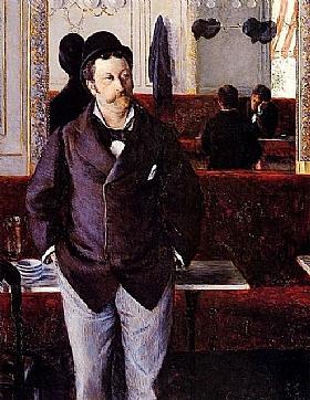 Gustave Caillebotte, Dans un café - GRANDS PEINTRES / Caillebotte