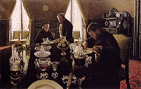 Gustave Caillebotte, Le déjeuner - GRANDS PEINTRES / Caillebotte