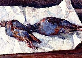 Gustave Caillebotte, Deux perdrix - GRANDS PEINTRES / Caillebotte