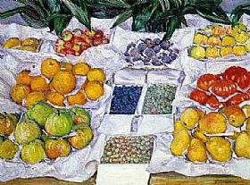 Gustave Caillebotte, Fruits sur un étalage - GRANDS PEINTRES / Caillebotte