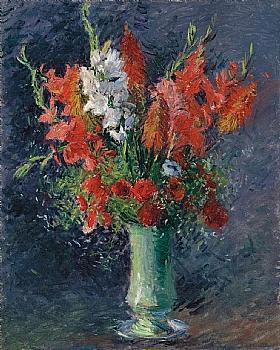 Gustave Caillebotte, Vase aux glaïeuls - GRANDS PEINTRES / Caillebotte