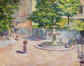Gustave Caillebotte, Place Sain-Georges à Paris - GRANDS PEINTRES / Caillebotte
