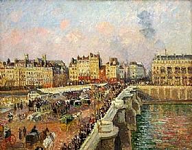 Camille Pissarro, Le Pont Neuf à Paris - GRANDS PEINTRES / Pissarro