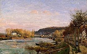 Camille Pissarro, La Seine à Bougival - GRANDS PEINTRES / Pissarro
