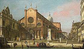 Canaletto, Basilique des Saints Jean et Paul - GRANDS PEINTRES / Canaletto