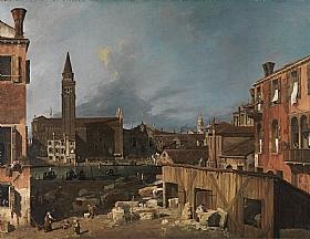 Canaletto, La cour du tailleur de pierre - GRANDS PEINTRES / Canaletto