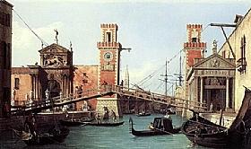 Canaletto, Entrée de l'Arsenal à Venise - GRANDS PEINTRES / Canaletto