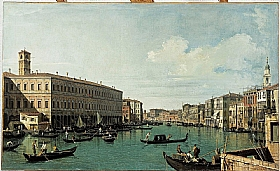 Canaletto, Le grand canal vu du Rialto - GRANDS PEINTRES / Canaletto