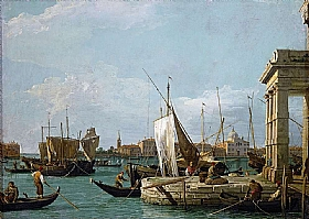 Canaletto, Pointe des douanes - GRANDS PEINTRES / Canaletto