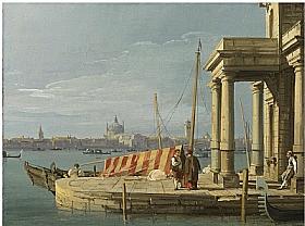 Canaletto, Quai des douanes à Venise - GRANDS PEINTRES / Canaletto