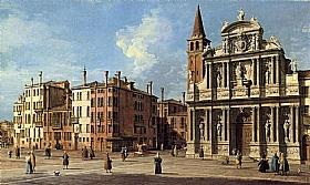 Canaletto, Sainte-Marie-du-Lys - Santa Maria Zobenigo - GRANDS PEINTRES / Canaletto