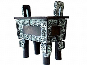 Jarre en bronze, Simuwu Ding - SCULPTURES / Bronzes