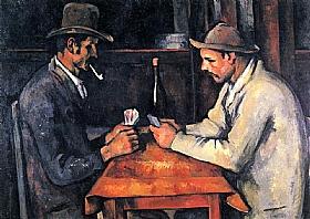 Paul Cézanne, Joueurs de cartes avec chapeaux - GRANDS PEINTRES / Cezanne