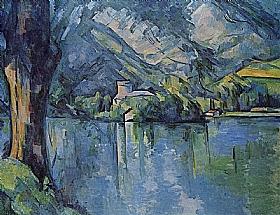Paul Cézanne, Le lac d'Annecy - GRANDS PEINTRES / Cezanne