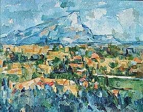 Paul Cézanne, Montagne Sainte Victoire en Provence - GRANDS PEINTRES / Cezanne