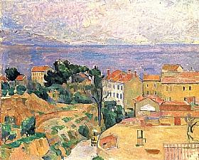 Paul Cézanne, Vue de l'Estaque - GRANDS PEINTRES / Cezanne