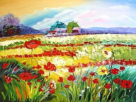Nature et Flore, Le champ fleuri - PEINTURES / Tableaux Faune & Flore