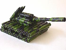 modèle réduit cartoucherie, Char Artillerie 4 - SCULPTURES / Objets Insolites