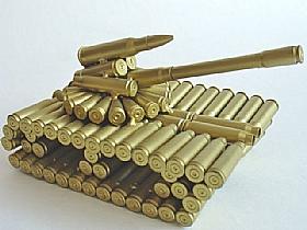 modèle réduit cartoucherie, Char Artillerie 1 - SCULPTURES / Objets Insolites