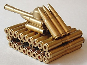 modèle réduit cartoucherie, Char Artillerie 3 - SCULPTURES / Objets Insolites