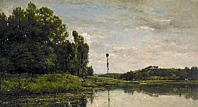 Charles-François Daubigny, Bords de l'Oise vers Auvers - GRANDS PEINTRES / Daubigny